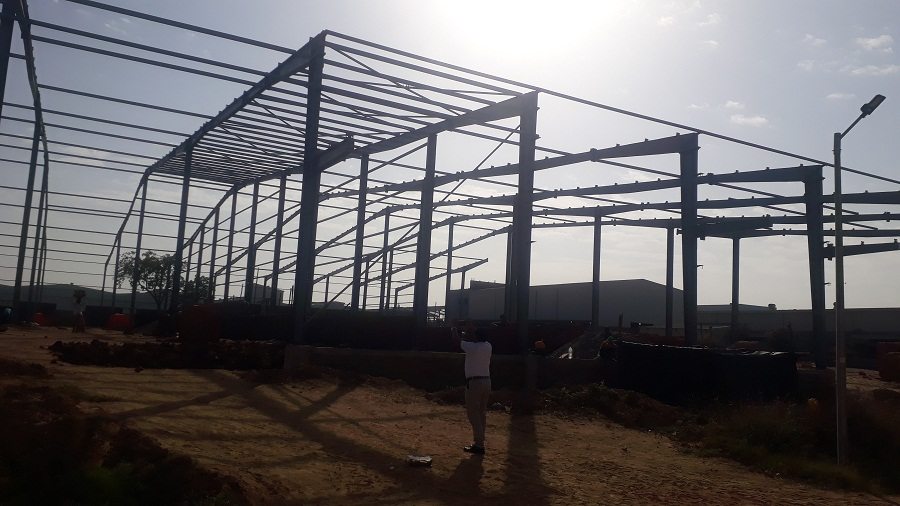 PEB STRUCTURE FABRICATION SERVICES IN AHMEDABAD, GUJARAT , INDIA – 9825249510